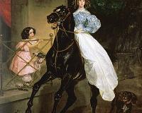 Bluzka do jazdy konnej wg obrazu Karla Bryullova