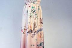 Letnia suknia z satyny