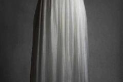 Muślinowa jedwabna suknia ślubna