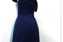 Sukienka wykonana wg projektu Pauliny Sałaty z MSKiPU
