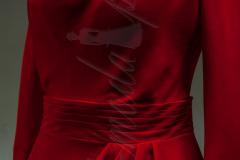 Sukienka czerwona-woda
