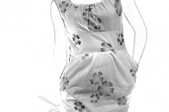 Sukienka lniana w kwiaty