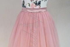 Sukienka różowe lato - tiul