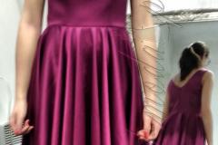 Sukienka wizytowa fuksja
