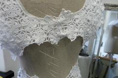 Suknia ślubna - len i koronka