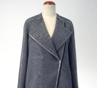 Art Moda Płaszcz z zamkami
