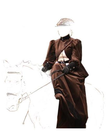 Art Moda suknia historyczna -myśliczek do jazdy konnej