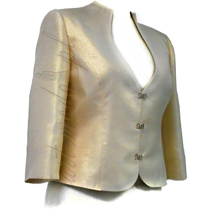 Złoty żakiet do sukienki wizytowej